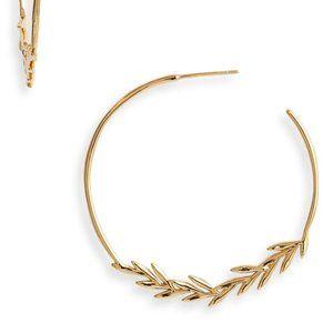 GORJANA Willow Hoop Earrings GOLD New woTags